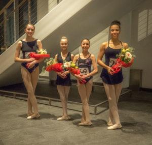 Ballet winners: Anya Matejczyk, Nicole Hamilton, Trinity Isidore, Layla Barber